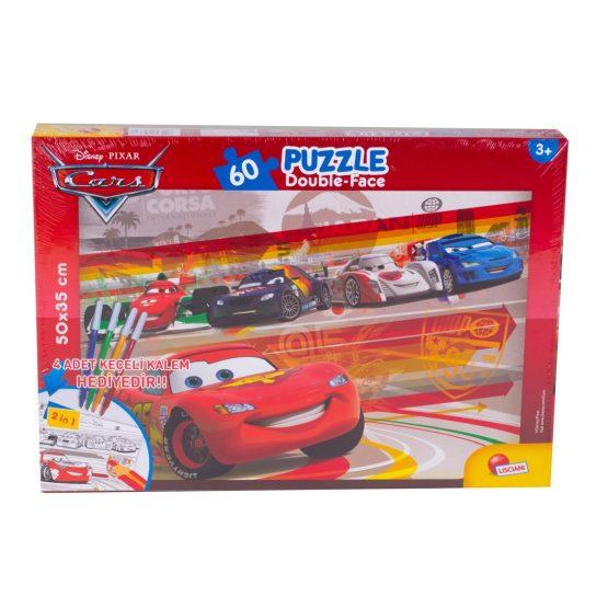 Cars 60 Parça Kalemli Puzzle