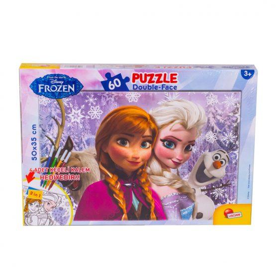 Frozen 60 Parça Kalemli Puzzle
