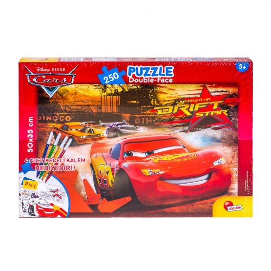 Cars 250 Parça Kalemli Puzzle